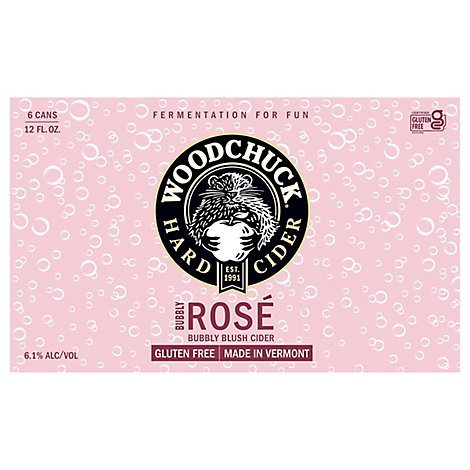 Woodchuck Bubbly Rose In Cans - 6-12 Fl. Oz.