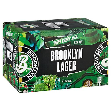 Brooklyn Lager Wrapped Cans - 6-12 Fl. Oz.