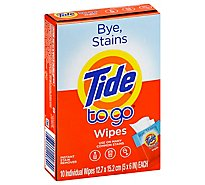 Tide To Go Wipes - 10 Count
