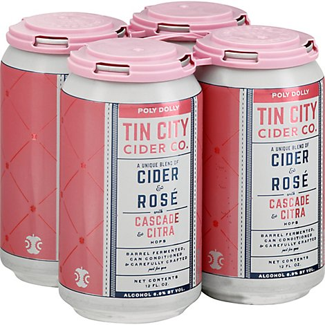 Tin City Cider Poly Dolly Cider & Rose Wine In Cansans - 12 Fl. Oz.