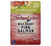 Chicken Of The Sea Wild Caught Skinless/Boneless Pink Salmon With Lemn & Ch - 2.5 Oz