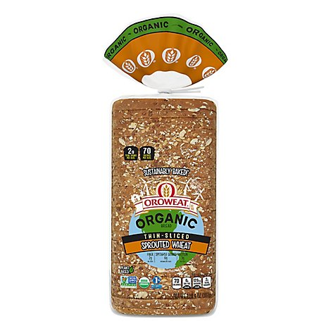 Oroweat Organic Bread Sprouted Wheat Thin Sliced - 20 Oz