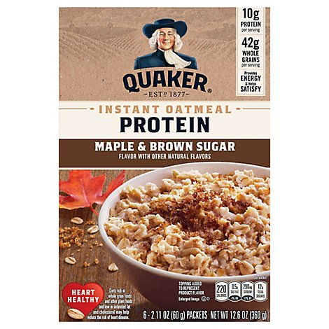 Quaker Maple & Brown Sugar Oatmeal - 12.6 Oz
