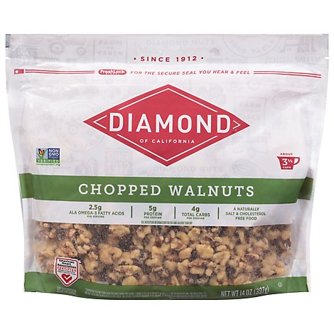 Diamond Baking Walnut Chopped - 14 Oz