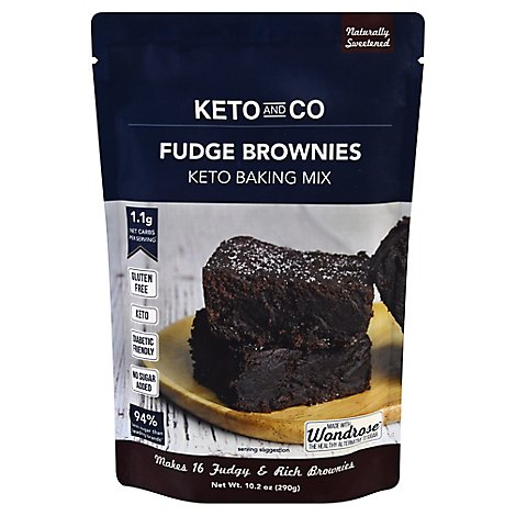 Keto & Co Mix Fudge Brownie - 10.2 Oz