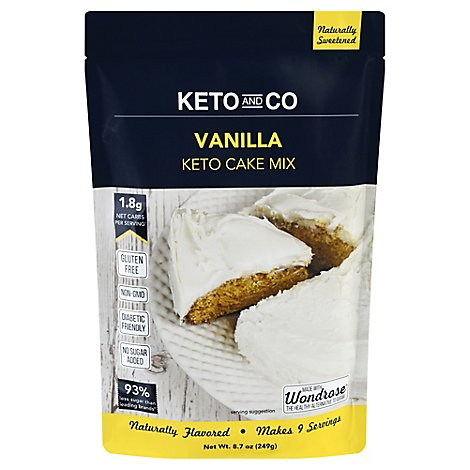Keto & Co Mix Cake Vanilla - 8.7 Oz