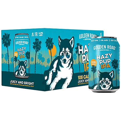 Golden Road Hazy Pup Ipa In Cans - 6-12 Fl. Oz.