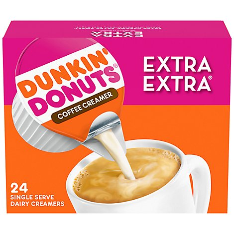 Dunkin Donuts Coffee Creamer Dairy Extra Extra - 24 Count