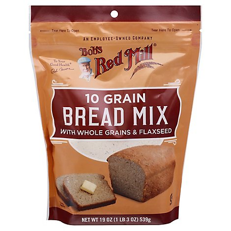 Bobs Red Mill Bread Mix 10 Grain With Whole Grains & Flaxseed - 19 Oz