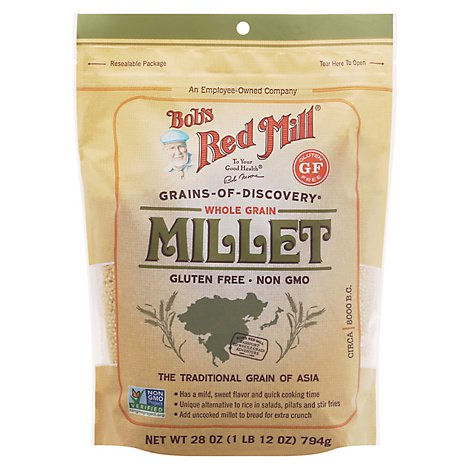 Bobs Red Mill Grains Of Discovery Millet Whole Grain Gluten Free Non GMO - 28 Oz