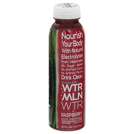 Wtrmln Wtr Raspberry Cold Pressed Watermelon Juice - 12 Oz