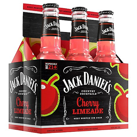 Jack Daniels Punch Country Cocktails Cherry Limeade - 6-12 Oz