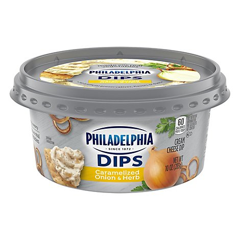 Philadelphia Dips Cream Cheese Dip Caramelized Onion & Herb - 10 Oz