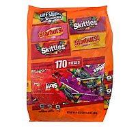 Mars Candy Mix Halloween Skittles Starburst & Life Saver Fun Size 170 Count - 63.43 Oz