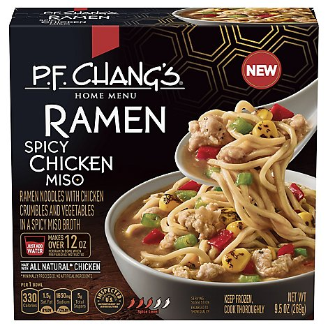 P.F. Changs Home Menu Ramen Spicy Chicken Miso Frozen - 9.5 Oz