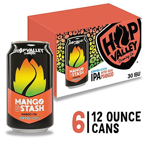Hop Valley Mango & Stash Ipa In Cans - 6-12 Fl. Oz.