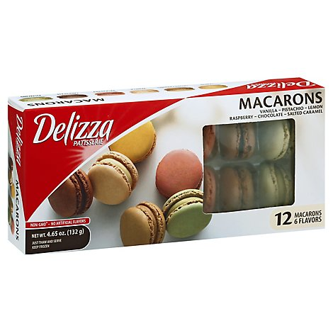 Delizza Macarons Assortment 12 Count - 4.65 Oz