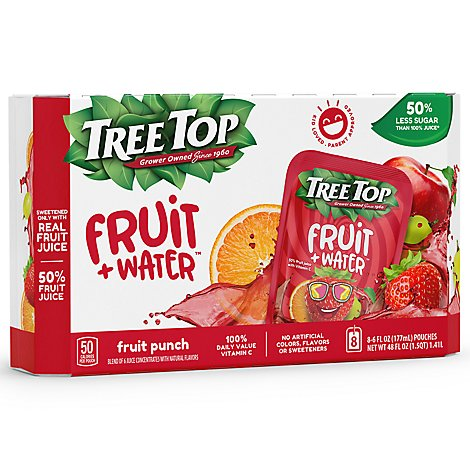 Tree Top Fruit + Water Fruit Punch - 8-6 Fl. Oz.