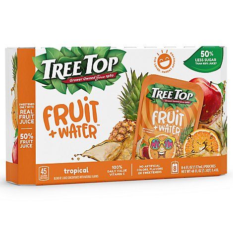 Tree Top Fruit + Water Tropical Punch - 8-6 Fl. Oz.