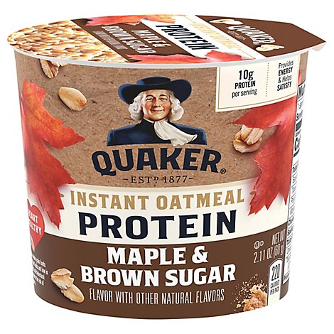 Quaker Protein Instant Oatmeal Maple & Brown Sugar - 2.11 Oz