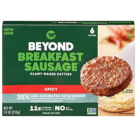 Beyond Meat Sausage Breakfast Spicy - 7.4 Oz
