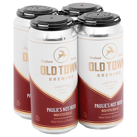 Old Town Paulies Not Irish Red Ale 1/16c In Cans - 16 Fl. Oz.