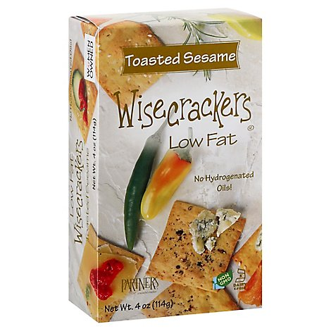 Wisecrackers Cracker Sesame - 4 Oz