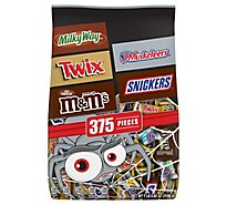 Mars Chocolate Candy Halloween Bars Mix M&Ms Snickers Twix & Milky Way 375 Count - 112.82 Oz