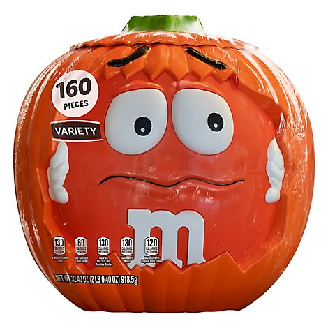Mars Chocolate Candy Halloween M&MS Pumpkin Variety Mix 160 Count - 32.4 Oz