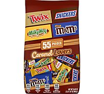 Mars Chocolate Candy Mix M&Ms Snickers Twix & Milky Way Fun Size 55 Count - 33.87 Oz