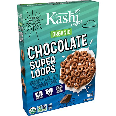 Kashi By Kids Breakfast Cereal Super Loops Chocolate - 9.5 Oz