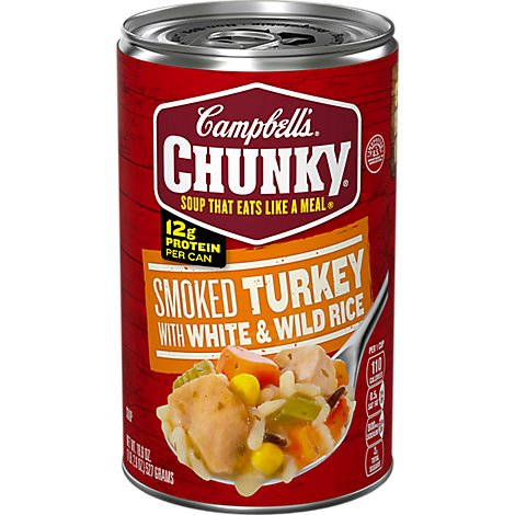 Campbells Turkey With White & Wild Rice Chunky Soup - 18.6 Oz