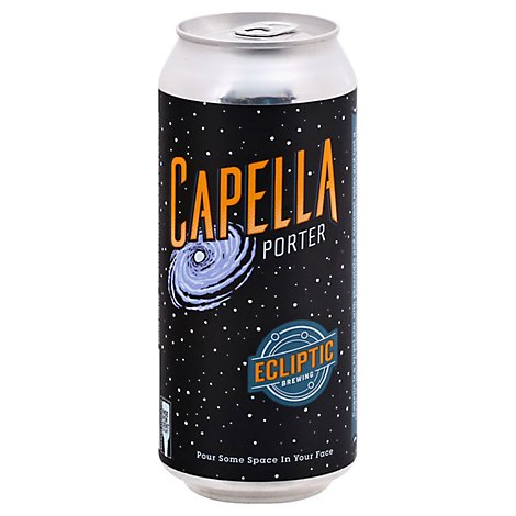 Ecliptic Brewing Capella Porter In Cans - 16 Fl. Oz.