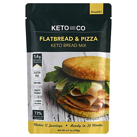 Keto & Co Flatbread & Pizza Mix - 6.7 Oz