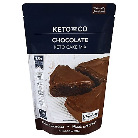 Keto & Co Chocolate Cake Mix - 9.1 Oz