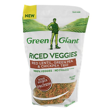 Green Giant Red Lentil Green Pea & Chickpea Trio Rice Veg - 7 Oz