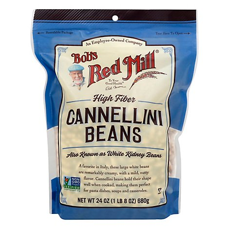 Bobs Red Mill Beans Cannellini High Fiber - 24 Oz