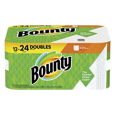 Bounty 12dr Wh 72ct - 12 Roll