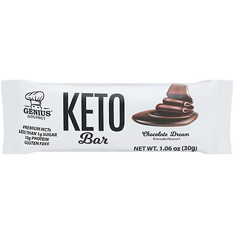 Genius Gourmet Keto Bars Choc Dream - 1.09 Oz