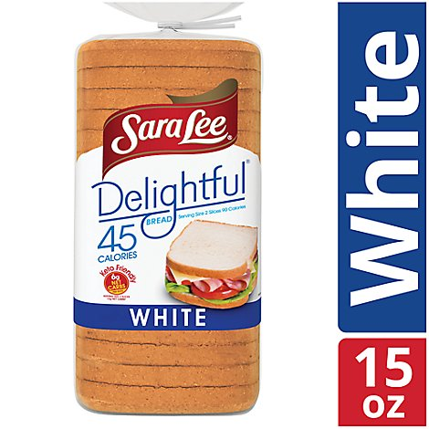 Sara Lee Delightful White W/Whole Grain Bread - 15 Oz
