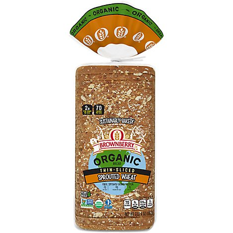 Brownberry Organic Bread Sprouted Wheat Thin Sliced - 20 Oz