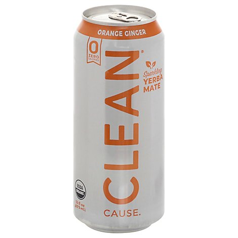 Clean Cause Tea Rtd Orange Ginger Sf - 16 Fl. Oz.