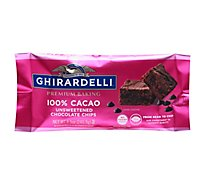 Ghirardelli 100% Cacao Chocolate Chips - 8.5 Oz