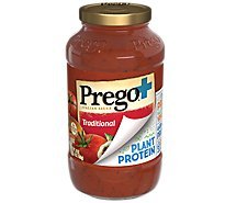 Prego Sauce With Plant Based Protein Traditional - 24 Oz