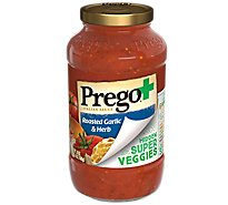 Prego Sauce Veggie Roasted Garlic Herb - 24 Oz