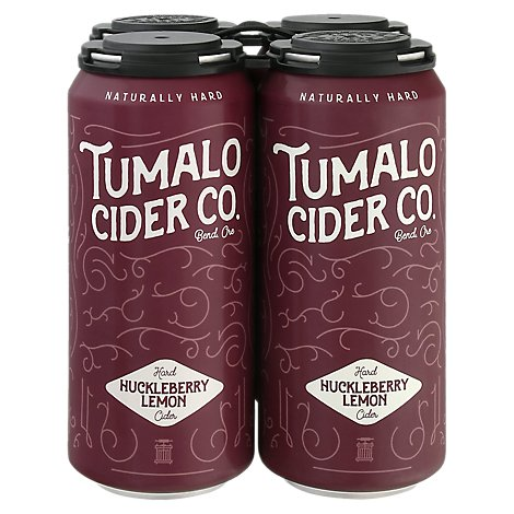 Tumalo Huckleberry Lemon Cider In Cans - 4-16 Fl. Oz.