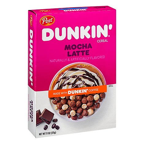 Post Dunkin Cereal Mocha Latte - 11 Oz