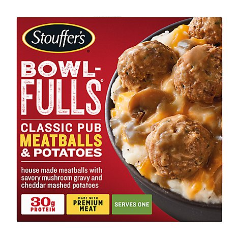 Stouffers Bowl Fulls Pub Meatballs & Mash Meal Bowl - 14 Oz