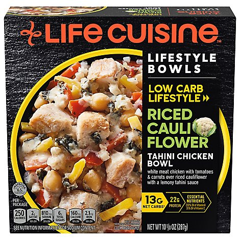 Life Cuisine Creamy Chicken & Riced Cauliflower Bowl - 10.125 Oz