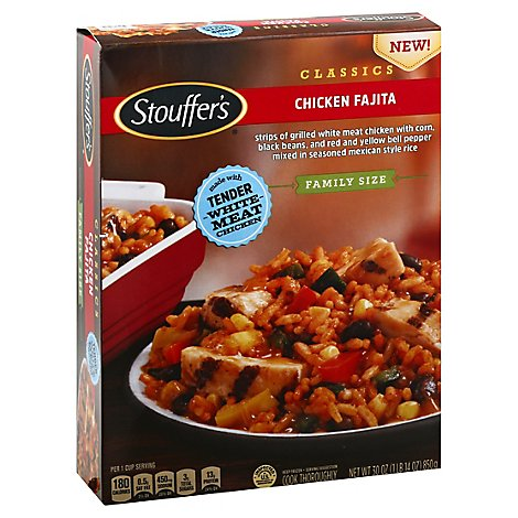 Stouffers Family Size Chicken Fajita Box - 30 Oz
